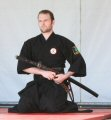 Tying on the Sageo in the Iaido Dojo