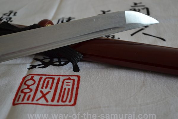 Ryumon Folded Steel Dragon Tanto Kissaki
